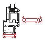 Rahmenverbreiterung für PVC- und ALU-PVC-Türen der Stärke 70mm (20 x 70mm) (Flexible Türmontage)