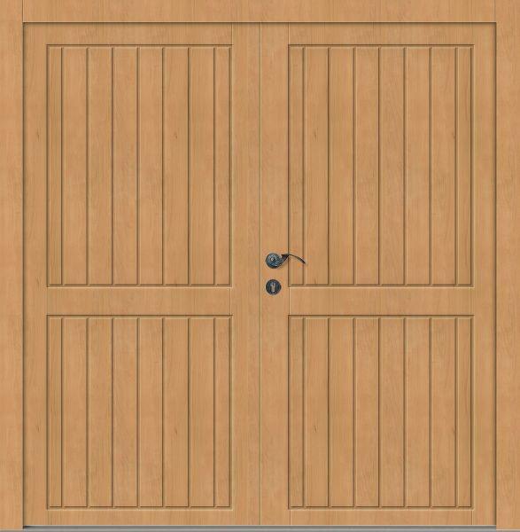 """Holz Nebeneingangstür """"ALMA"""" 62mm 2-flügelig Doppeltür symmetrisch (Schreiner-Qualität)"""