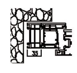 Rahmenverbreiterung für PVC- und ALU-PVC-Türen der Stärke 60mm (35 x 60mm) (Flexible Türmontage)