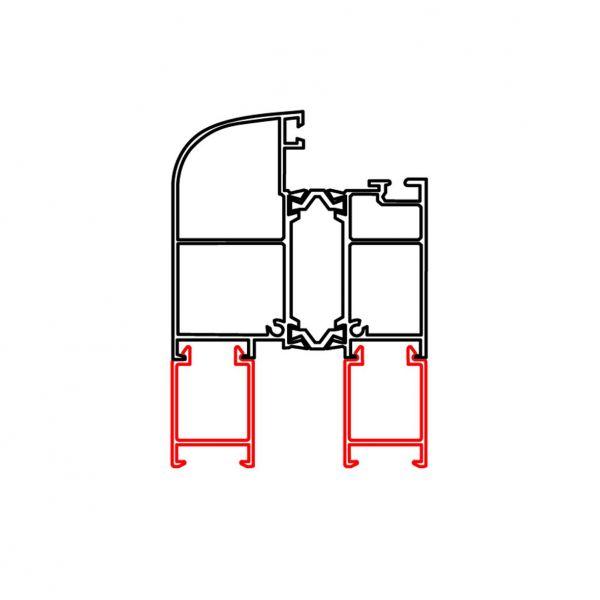 Rahmenverbreiterung für ALU-Türen der Stärke 60 mm (21 mm x 30 mm) (Flexible Türmontage)