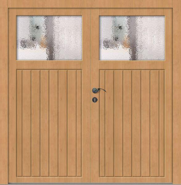 """Holz Nebeneingangstür """"ELSA"""" 62mm 2-flügelig Doppeltür symmetrisch (Schreiner-Qualität)"""